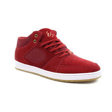 eS Shoes Accel Mid – Burgundy White Suede