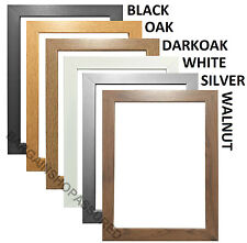 MODERN STYLE FLAT WOODEN EFFECT PHOTO FRAME PICTURE FRAME POSTER FRAME ALL SIZES