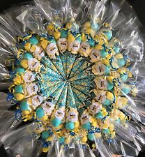 20 x Pre Filled MINION Theme Sweet Cones PERSONALISED