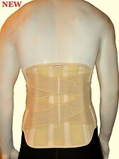 New  Back Lumbar Support Extra Firm / Strong Belt Extended REMOVABLE Steel Stays