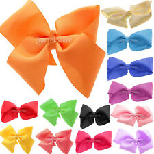 "5"" Big Hair Bow Aligator Clips Grosgrain Ribbon Girls Hair Accessories Headwear"