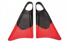 Limited Edition Black Red Bodyboard Fins/Flippers