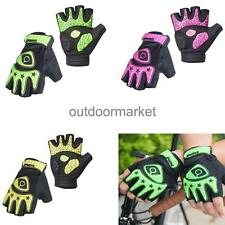 Mens Womens Fingerless Cycling Bicycle Gloves Half Finger Less Gel Padded Palm