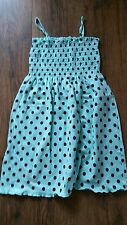 Girls OVS Strappy Summer Dress Mint with black spots Ages 4-8 Years BRAND NEW