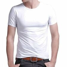 New Men Tops Casual shirts Slim Fit V neck T-shirt Short Sleeve Muscle Tee