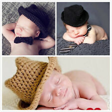Handmade Crochet Baby Hat Cap Solid Models Child Baby Photography Props Cute