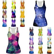 Galaxy Milky Way Print Womens Camisole Vest Sleeveless T Shirt Blouse Tank Tops