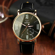 Men's Quartz Wrist Watches Leather Band Analog New Womens Watches classic