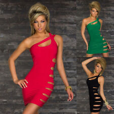 One Shoulder Cutout Style Sexy Cocktail Party Club Dress Short Mini Dress