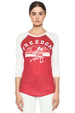 NWT $225 Isabel Marant Etoile Reed Freedom linen baseball tee t-shirt XS, M red