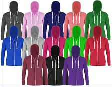KIDS GIRLS & BOYS UNISEX PLAIN FLEECE HOODIE ZIP SWEATSHIRT JACKET 1-13 YEARS