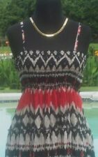 Cache $118 GATHERED EMPIRE BOHO SUN DRESS ADJUSTABLE STRAP NWT XS/S/M/L STRETCH