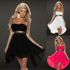 Sequin Waist Style Sexy Cocktail Party Club Dress Lace Chiffon Dress