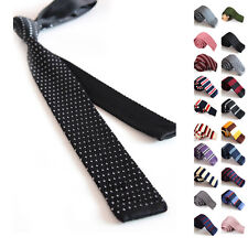Fashion New Skinny Knit Tie Thin Slim Solid Formal Knitted Mens Tie