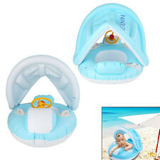 Kids Baby Toddler Swimming Pool Swim Seat Float Boat Ring with Awnings Protect