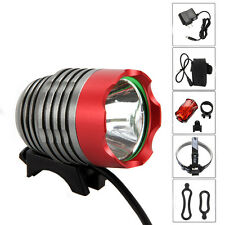 5000Lm Cree XML T6 LED Bicycle Bike Lamp Outdoor Headlight Head lamp+Rear Light
