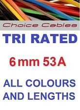 6mm Tri Rated Cable 6.0mm Automotive Cable, 240v Cable,12/24v Auto Charging Wire