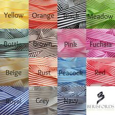 25MM STRIPE RIBBON 15 COLOURS 4 LENGTHS TO CHOOSE FROM BY BERISFORDS