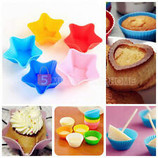 12pcs Soft Silicone Cake Muffin Chocolate Cupcake Liner Baking Cup Mold