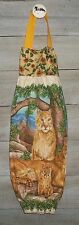 Mountain Lions Cougars Pumas Plastic Grocery Bag Rag Sock Holder Handmade HCF&D