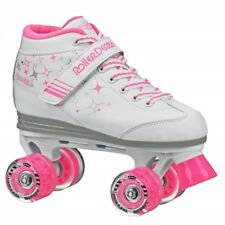 RDS Sparkles Girls Roller Skates with Pink Light Up Wheels US Kids Sizes 12 - 5