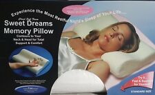 NEW ORTHOPEDIC MEMORY FOAM PILLOW WITH ZIPPED WASHABLE COVER