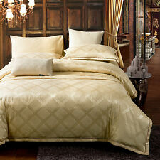 4-Piece Luxury Sheets Comforter Duvet Cover Bedding Set (Queen and King size)
