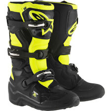 NEW Alpinestars 2017 MX Kids Tech 7s Black Fluro Yellow Youth Motocross Boots