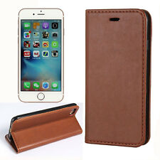 New Luxury PU Leather Magnetic Silm Flip Wallet Stand Case Cover For iPhone 7