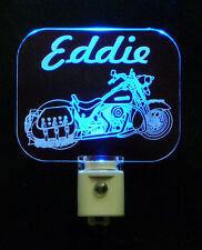 Motorcycle Personalized LED Night Light, Lamp, Man Cave, Handmade, Motorbike