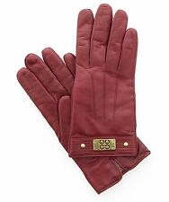 Coach Authentic Women's Leather/Cashmere Lined Winter Gloves 82045 Sz 6.5 $128
