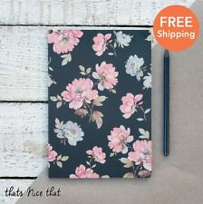 A5 Black & Pink Floral Notebook Rose Fun Gift Sketch Book Journal Diary Kids