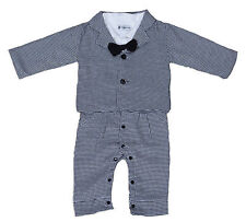Boys 2 Piece Black and White Checked Suit 12 18 Months 2 3 4 Years