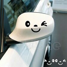 Smile Face 3D Decal Sticker Cute Car Styling for Auto Car Side Mirror L+R(2Pcs)