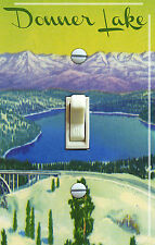 DONNER LAKE Vintage Poster Single/Double Switch Plate   ***FREE SHIPPING***