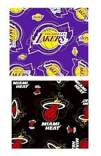 "SCARF SILKY STYLE NBA TEAM TWO TEAMS MIAMI HEAT OR LOS ANGELES LAKERS 34"" X 34"""