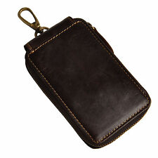 Vintage Genuine Leather Key Chain Holder Auto Remote Control Case New