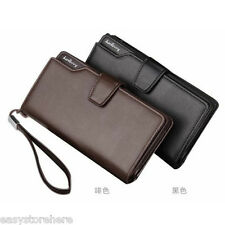 New Causal Fashion Genuine Leather Long Style Cluth Bag Purses Wallets for Men