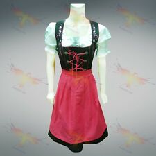 DIRNDL Trachten German Oktoberfest DRESS 3-Piece Full Swing Party Waitress Maid