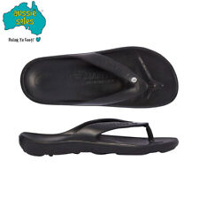 Aussie Soles Starfish Thongs- Black with Diamante
