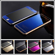Mirror Tempered Glass Front+Back Screen Protector Film Cover For iphone 6Plus SE