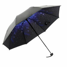 Sky Windproof Starry Anti UV Sun/Rain Umbrella Princess Folding Compact Parasol