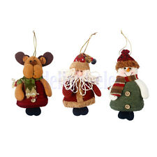 Christmas Hanging Decorations Elk/Snowman/Santa Xmas Tree Ornaments DG