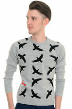 Mens Indie Hipster 70s Retro Vintage Flying Eagles Jumper