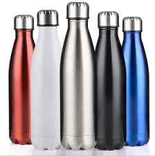Water Flask Thermos Stainless Steel Double Wall Vacuum Insulated Bottle 1000ML