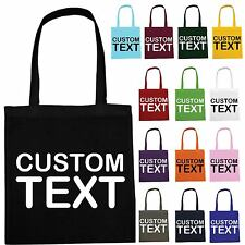 PERSONALISED COLOUR TOTE BAG CUSTOM TEXT LOGO HEN PARTY - Not Cotton Canvas Bags