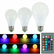E27 Dimmable RGB LED light Color Changing Bulb with Remote Control 85-265V