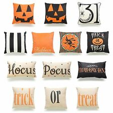 Decorative Throw Pillow Case Halloween Pumpkin Trick Or Treat Sofa Cushion Cover