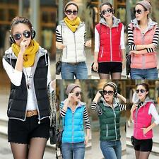 Women Winter Autumn Padded Vest Jacket Lady Casual Warm Waistcoat Down Coat NEW
