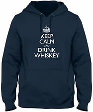 Men's Keep Calm And Drink Whiskey Hoodie Sweatshirt